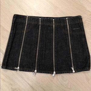 Dolce & Gabbana Jean Zipper Skirt